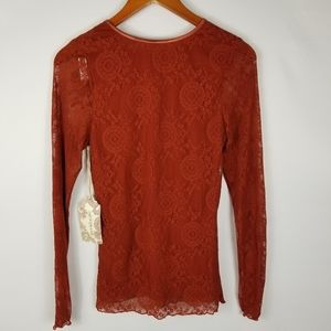 Band of Gypsies Tops - NWT Band of Gypsies My Baby Fitted Lace Top